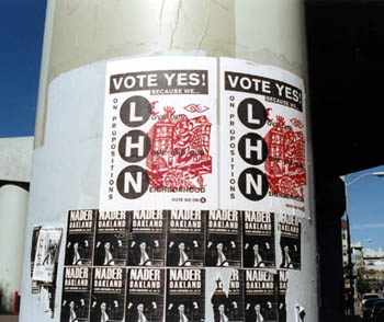 Election poster in 2000